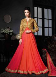 Handwork Georgette Gown at 40 persent Discount