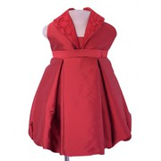 Faye Maroon Collared Party Dress
