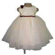 Beige & Ivory Princess Dress at Faye