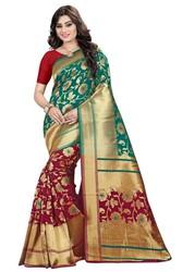 Huge Discount of 65%off on Banarasi Silk Saree   Kalavat