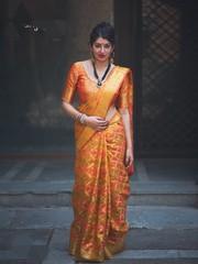 Patola Wedding Wear Mustard Color Saree & Heavy Pallu Saree   Kalavat