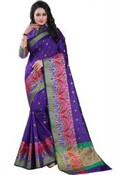Shop Latest Blue colour sarees online from Mirraw