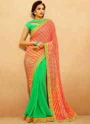 Buy Latest Chiffon sarees online from Mirraw