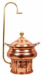 Buy Steel Copper Chaffing Dish with Stand From Indian Art Villa