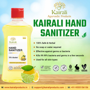 Kairali hand sanitizer provides Instant protection from infections