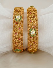 Buy An Exclusive Collection of Silk Thread Bangles at Best Price.