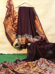 batik silk saree