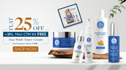 Get Flat 25% Off + 3 Pc Face Wash,  Toner and Cream - The Moms Co.