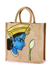 Jute hand painted bags manufacturer from Kolkata