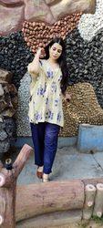 Shop our Jaipur best selling Floral Blue Kaaftan Pant at Satrangi