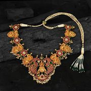 Buy Pure Silver Padmini South Indian Necklace